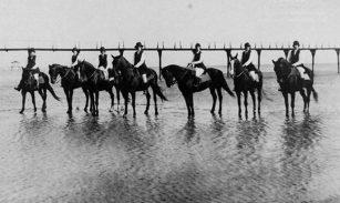 Gulf Park College Riding Class on Beach