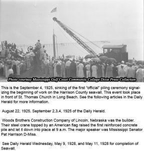 SStart of Seawall 4_September_1925